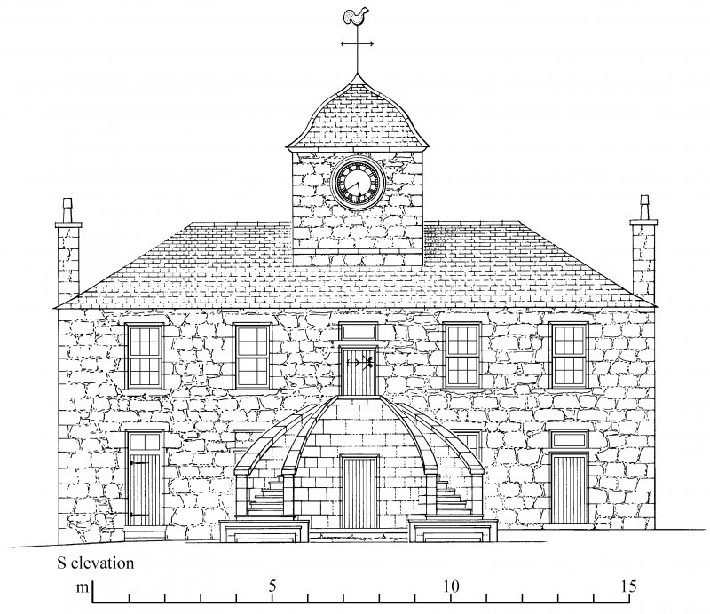 South elevation Preparatory drawing for 'Tolbooths and Town-Houses', RCAHMS, 1996. N.d.