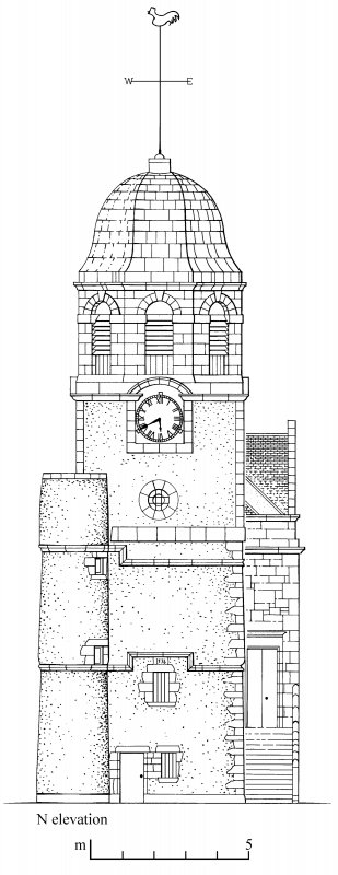 North elevation Preparatory drawing for 'Tolbooths and Town-Houses', RCAHMS, 1996. N.d.