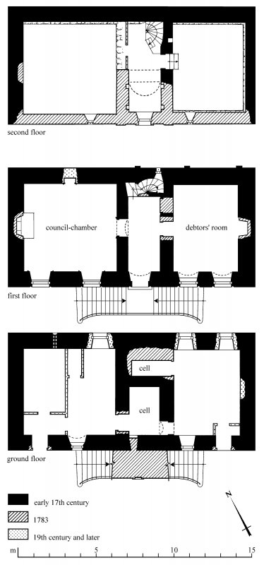Floor plans Preparatory drawing for 'Tolbooths and Town-Houses', RCAHMS, 1996. N.d.