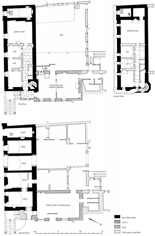 2nd floor plan Preparatory drawing for 'Tolbooths and Town-Houses', RCAHMS, 1996. N.d.