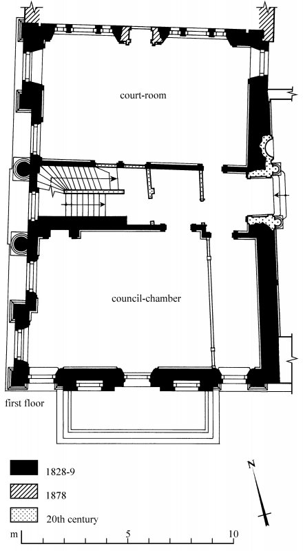 First Floor Plan Preparatory drawing for 'Tolbooths and Town-Houses', RCAHMS, 1996. N.d.