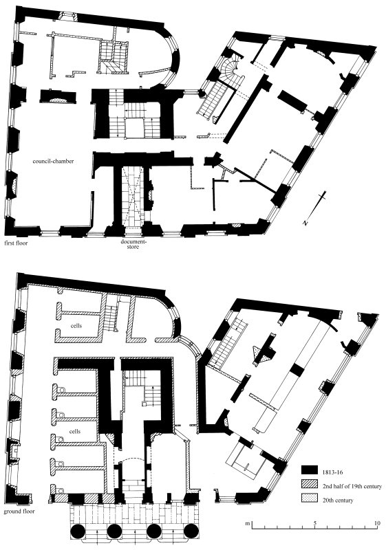 Floor plans Preparatory drawing for 'Tolbooths and Town-Houses', RCAHMS, 1996.