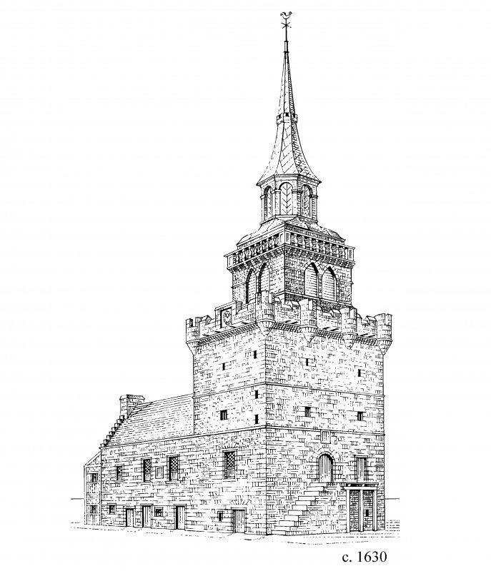 Perspective view. Conjectural Reconstruction (not to scale). Phase 2 (c.1630)