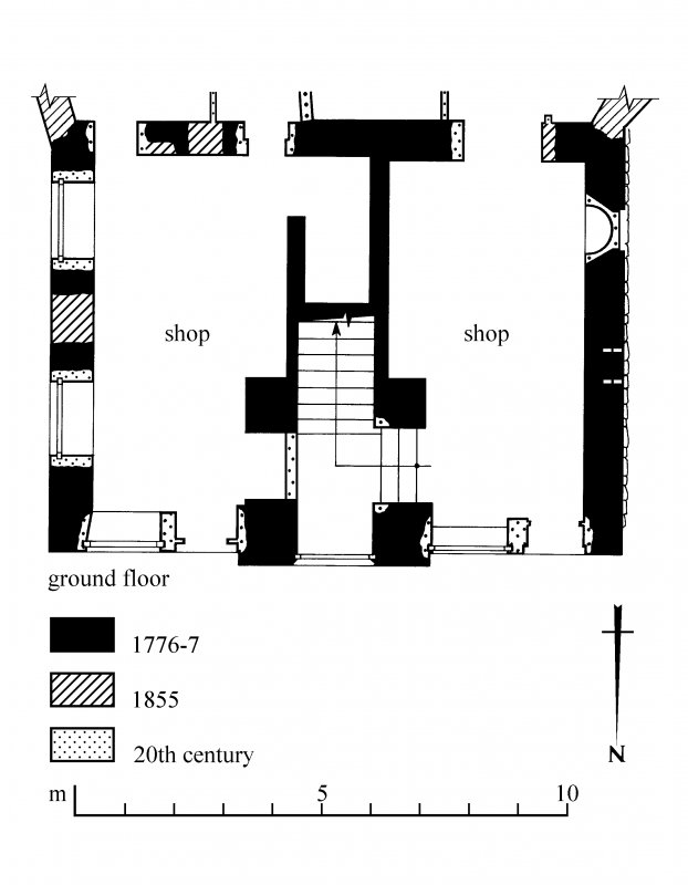 Ground floor plan. Preparatory drawing for 'Tolbooths and Town-Houses', RCAHMS, 1996. N.d.