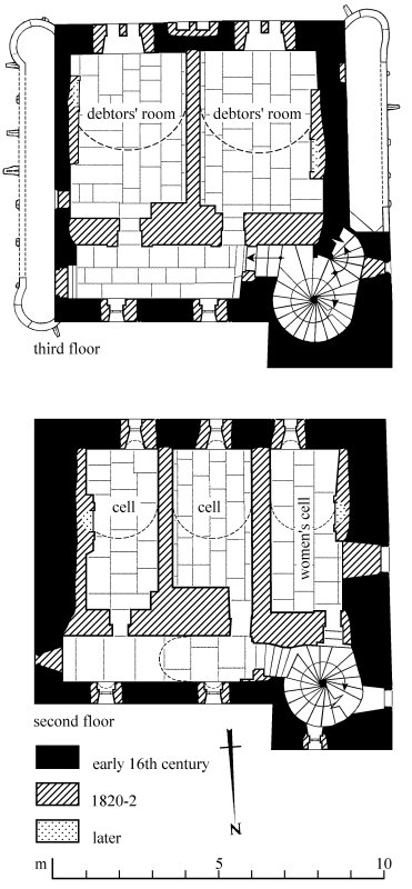 Second and Third floor plans of Stranraer Castle as illustrated on page 192 of Tolbooths and Town-houses.