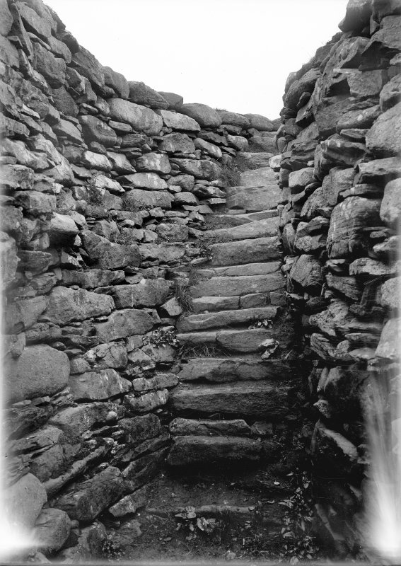View towards stair at Clickimin Broch, Lerwick