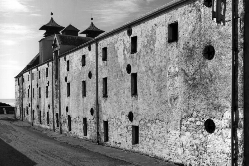 Ardbeg Distillery. View of East malt-barn from North East.