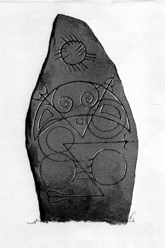 Logie Elphinstone stone (no. 2), from J Stuart, The Sculptured Stones of Scotland, i, pl.3		.