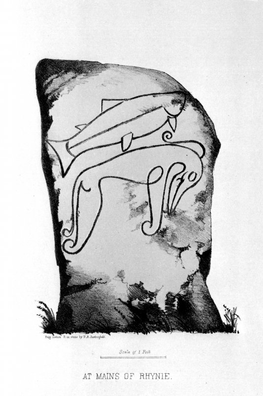 Digital image of the 'Craw Stane', Rhynie, from J Stuart, The Sculptured Stones of Scotland, i, pl.6.