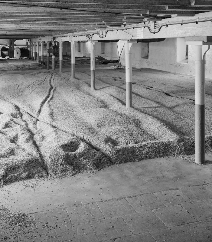 Ardbeg Distillery. Interior of East malt-barn, malting floor.