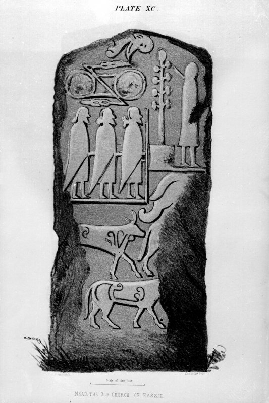 Eassie, stone from J Stuart, The Sculptured Stones of Scotland, i, pl. 90