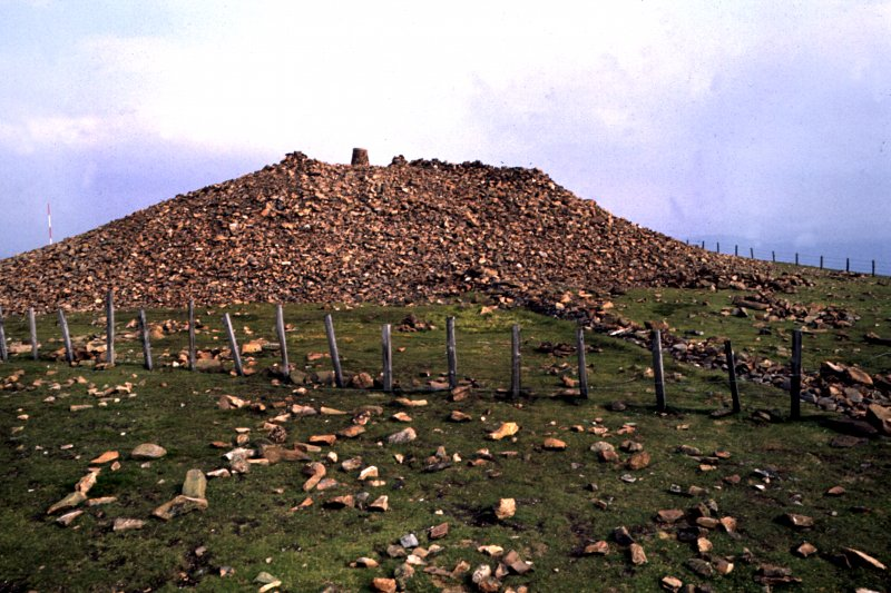 View of cairn from the west.
