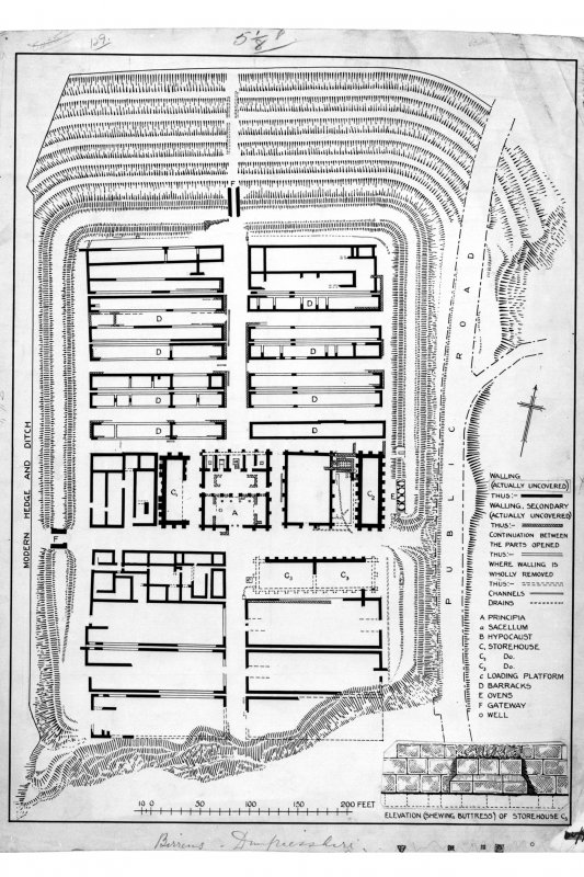 RCAHMS plan of Birrens Roman Fort  (Fig 111)