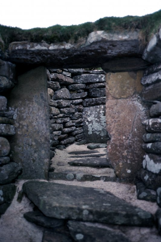 Doorway, passage A; Skara Brae