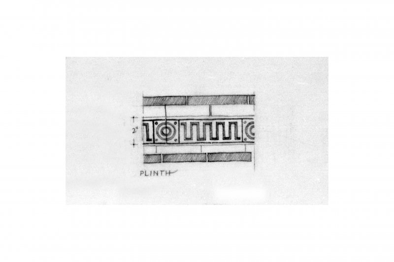 Plan, section, perspective and detail drawings. Refined pencil drawing of 1972 (1984) IND/172/1