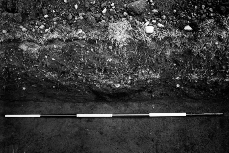Excavation photograph showing the ritual pit in the centre of the Principia court.