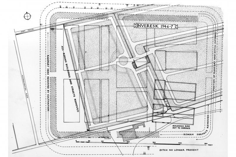 Plan showing excavated area.