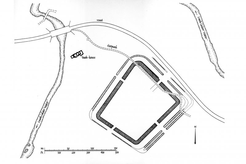 Plan of Bothwellhaugh Roman Fort and bath-house. Digital image of LAD/186/1/P.