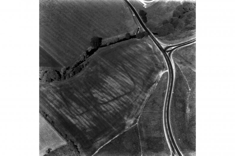 Oblique aerial photograph of Mollins Roman Fort.