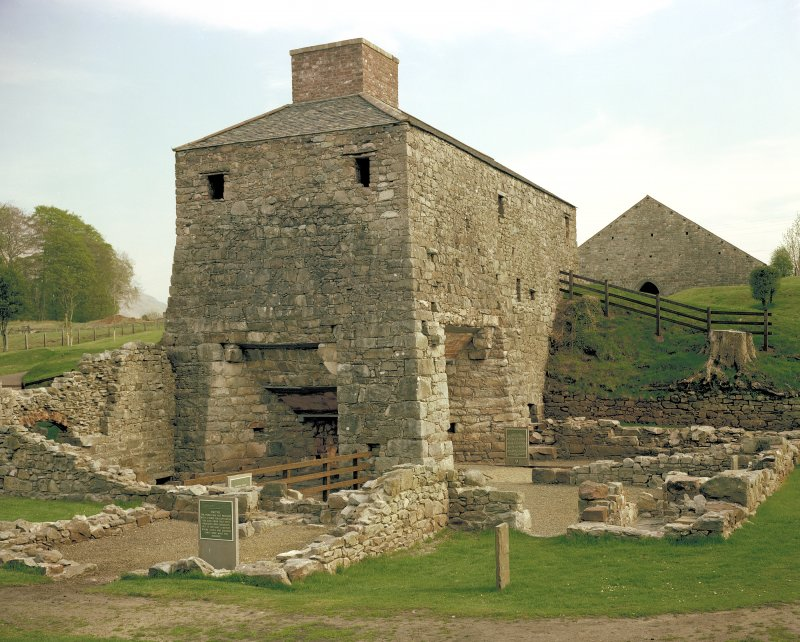Furnace from North West after restoration