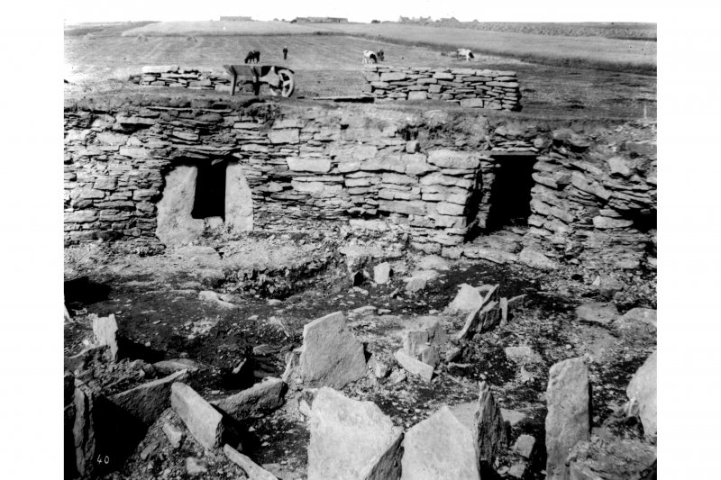 Excavation photograph.  Room in wall and entrance to second stairs.