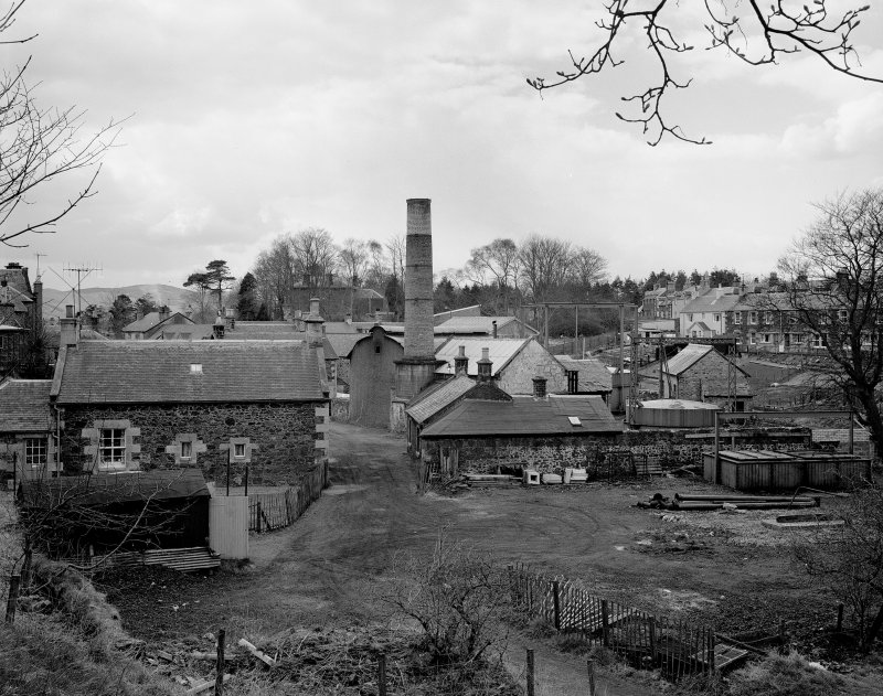 Biggar Gasworks. General view from East.