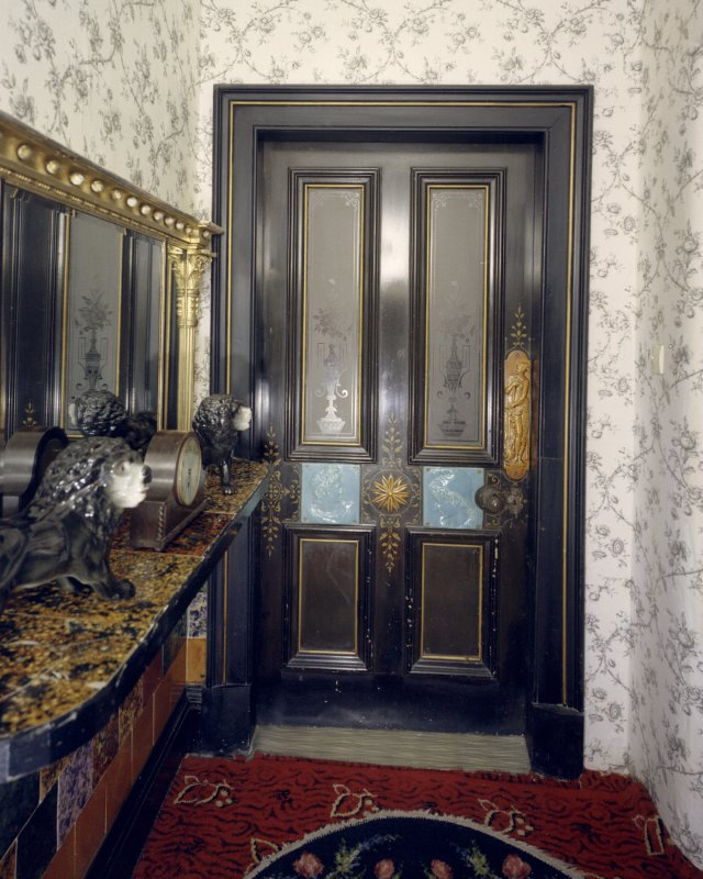 Interior. View of door from lobby in Manager's House.