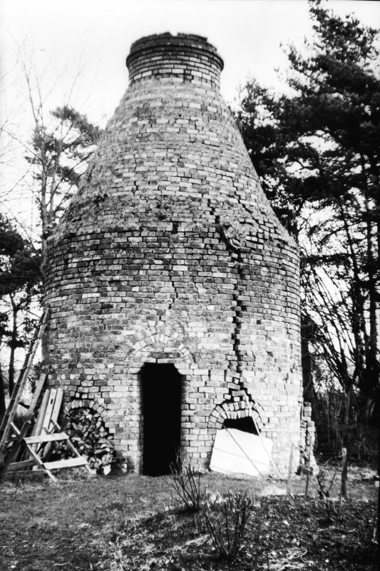 View of kiln from SE in ruinous state, Dunmore Pottery.
