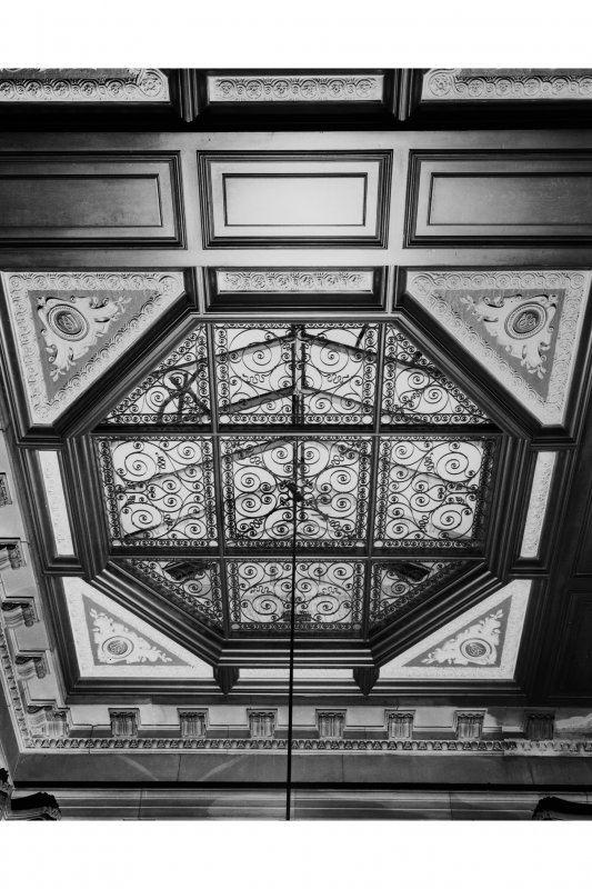 Octagonal roof light, NE corner.