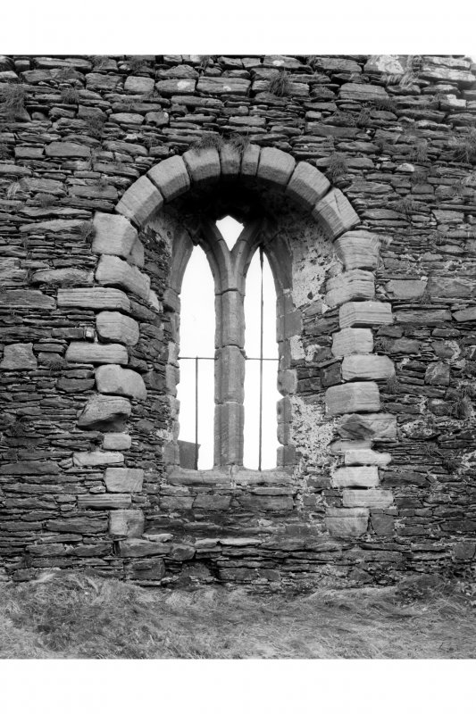 Interior-detail of East window embrasure