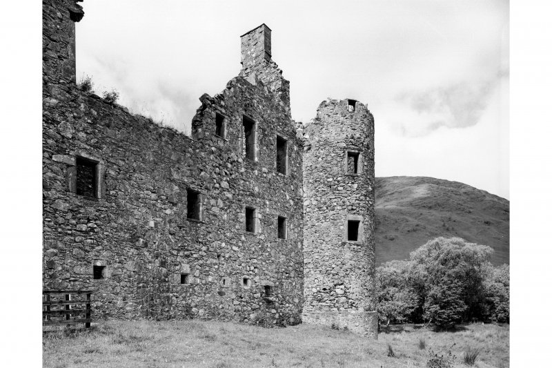 Kilchurn Castle. General view of North-East range from East.