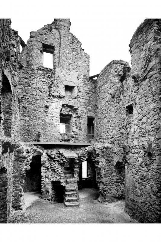 General view of interior of tower house from North Pl. 72D
