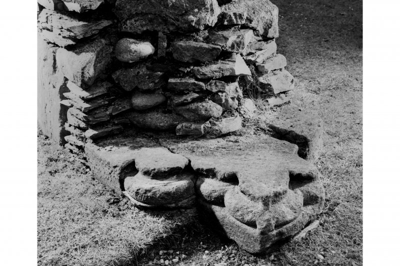 Dunstaffnage Chapel, interior. Detail of base of North doorway of Nave.