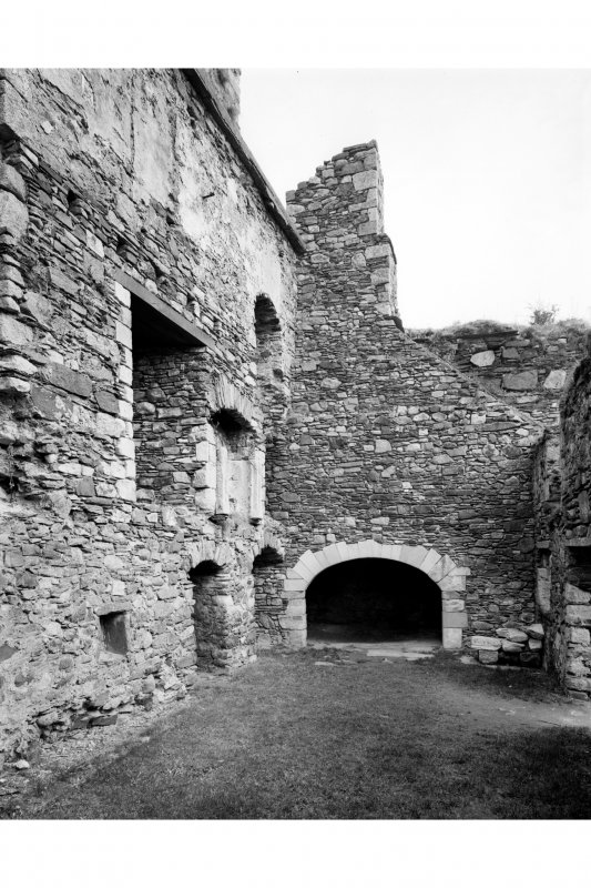 General view of interior of house on North West side of courtyard Pl. 58A