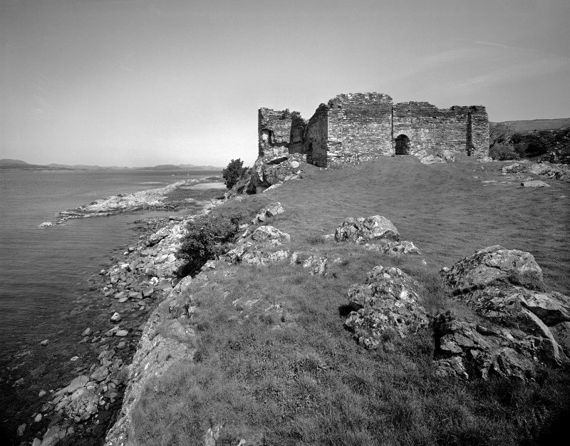 Castle Sween. General view of Castle Sween from South-West.