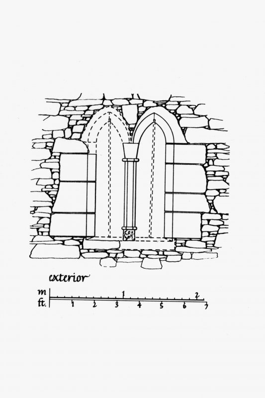 Exterior Elevation of North window embrasure in East curtain wall u.s.   u.d. Lorn Inv. Fig. 185