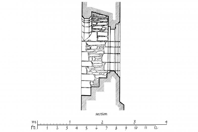 Exterior and Interior Elevations, Section and Plan of South Nave window u.s.   u.d.