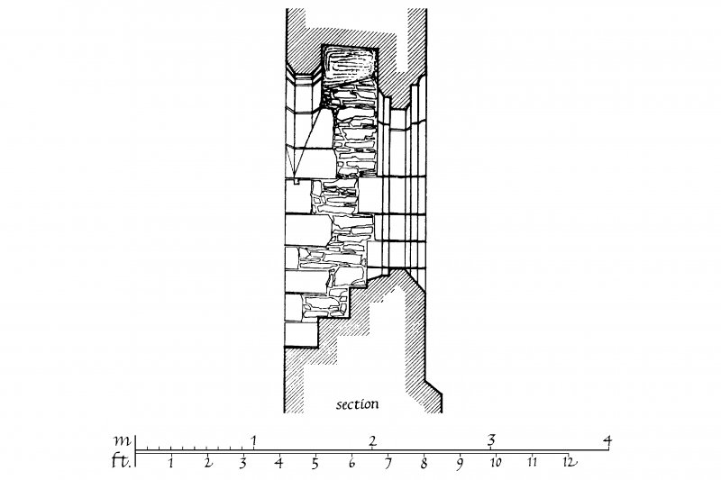 Exterior and Interior Elevations, Section and Plan of North Chancel window u.s.   u.d.