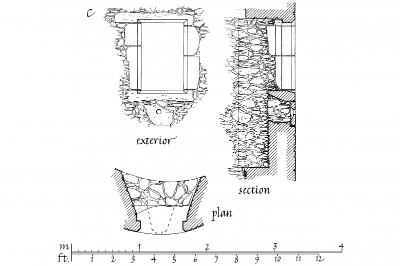 Kilchurn Castle. Details of Elevations, Sections and PLans of gunloops and pistol holes in South angle turret of tower house and North angle tower. u.s.   u.d.