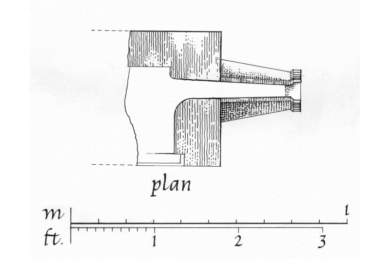 Carnasserie Castle. Plan and Elevation of drain-spout.