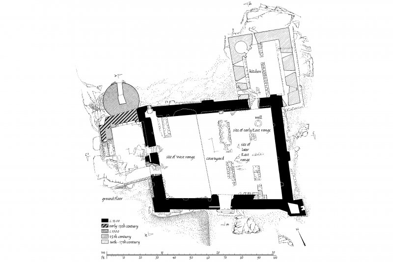 Publication drawing. Castle Sween; plan of Ground Floor.