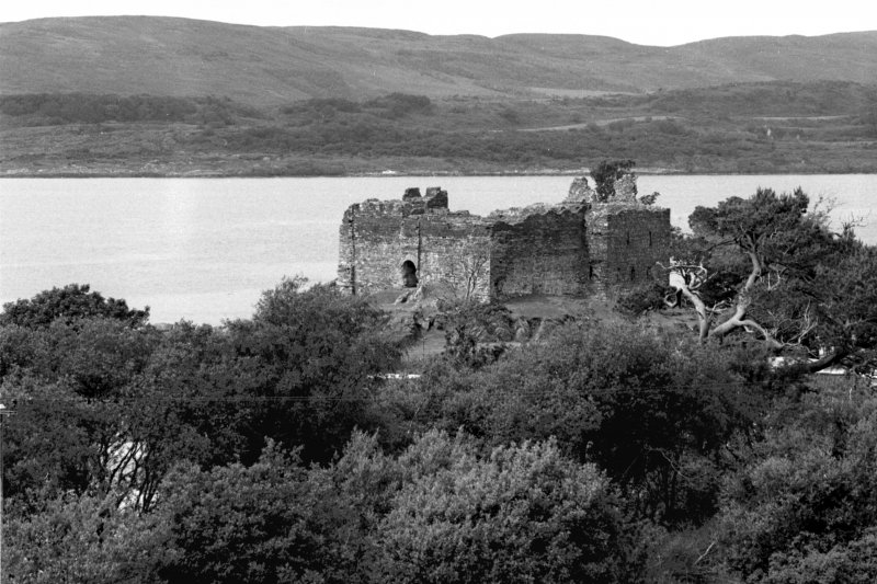 Castle Sween. General view from South-East.
