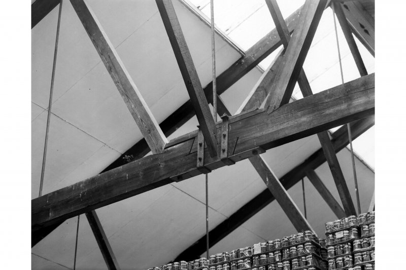 Interior. Detail of 1913 roof structure.