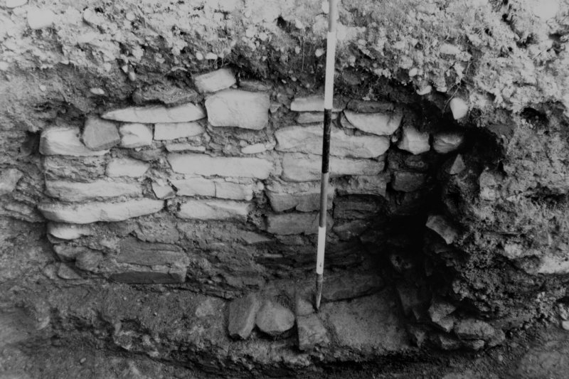 Excavation photograph - view from south-east of furnace.