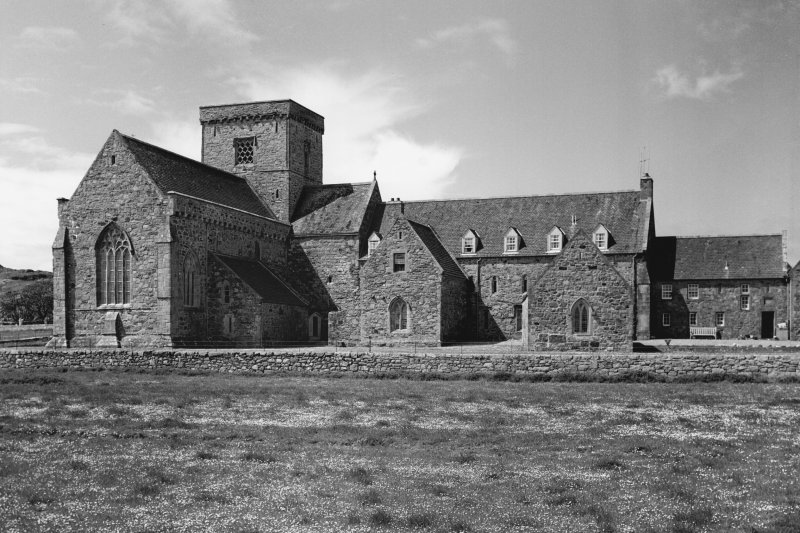 Iona, Iona Abbey. General view from East.