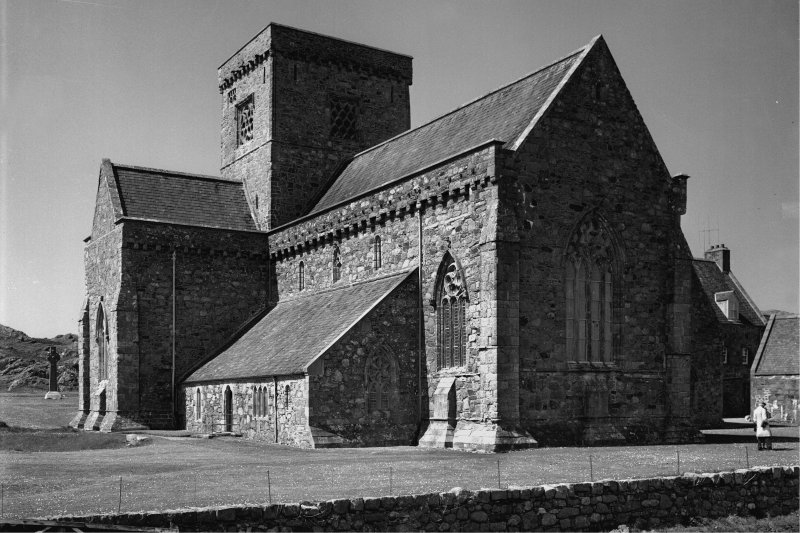 Iona, Iona Abbey. General view from South-East.