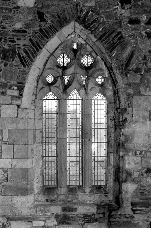 Iona, Iona Abbey, interior. View of choir North window.