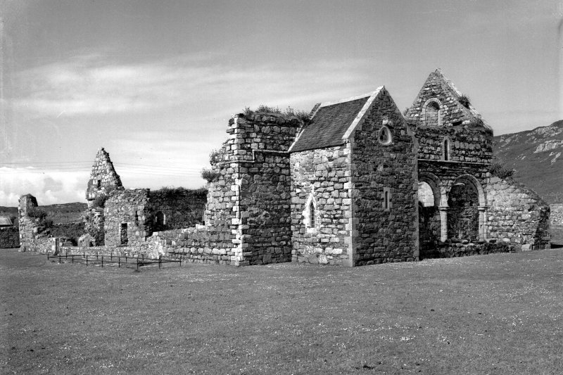 Iona, Iona Nunnery.  General view from North-East.