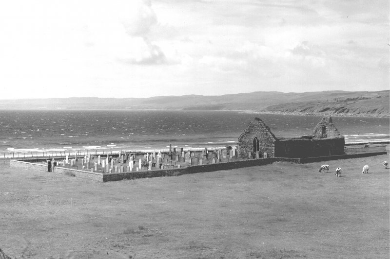 Kilbrannan, Skipness Chapel. General View from North-East, overlooking Skipness Bay.