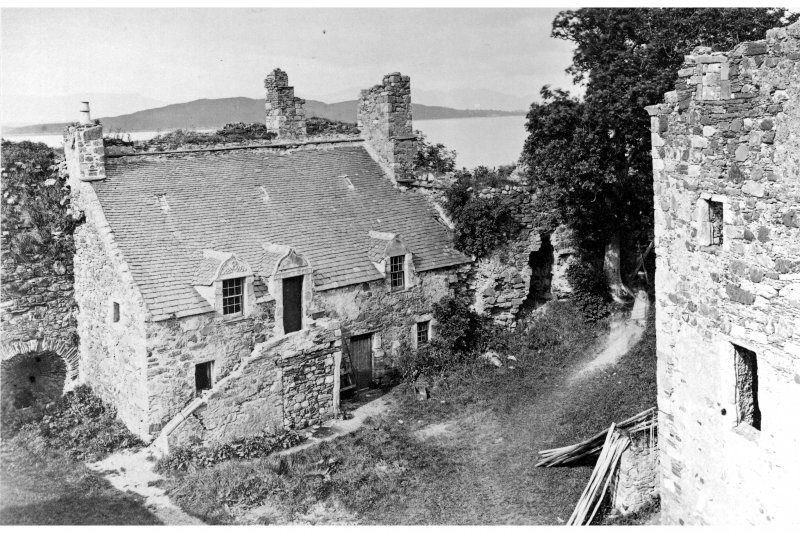View of Dunstaffnage Castle courtyard from S.